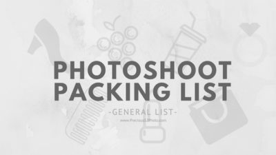 Blog Title: Photoshoot Packing List - General List
